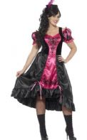 Curves Sassy Saloon Girl Costume (26529)